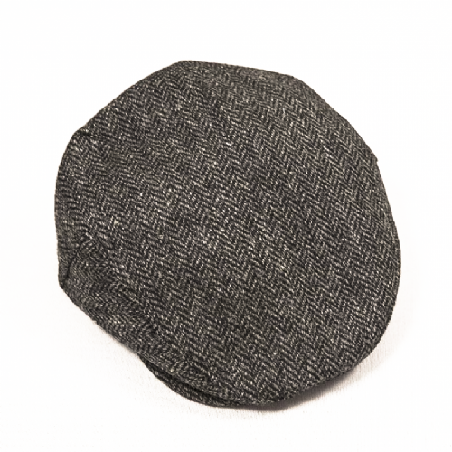Handmade Irish Tweed Cap - Grey (D41)